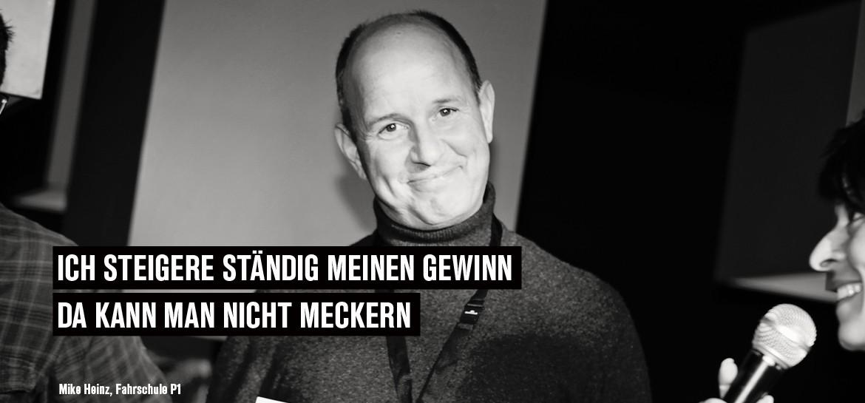 Mike Heinz, Fahrschule P1