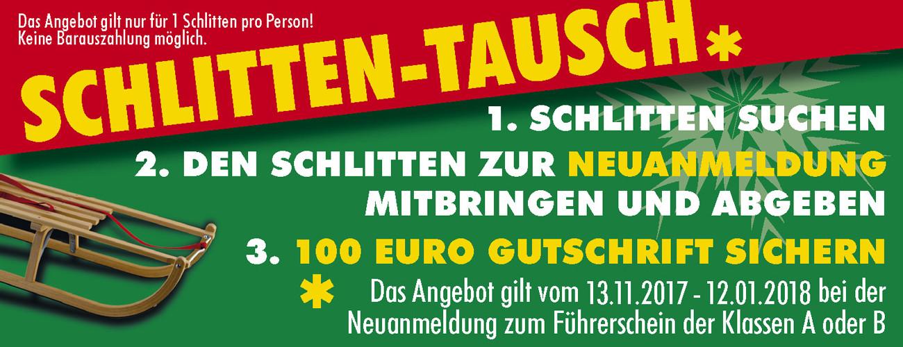 Schlitten-Tausch 2017/2018