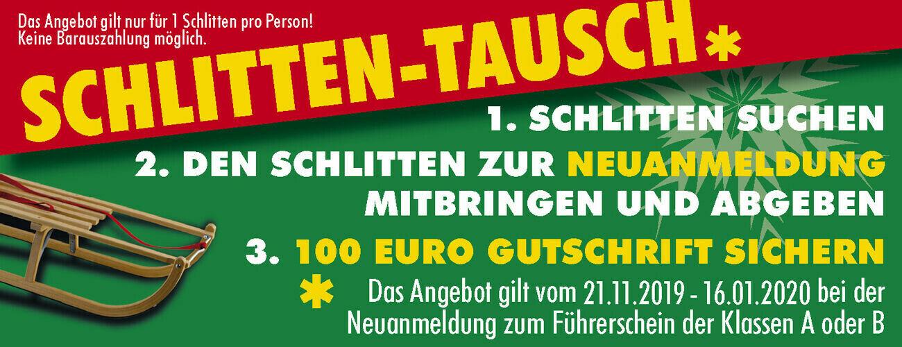 Schlitten-Tausch