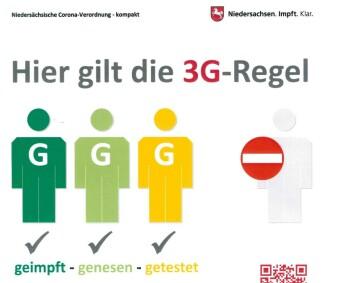 Ab heute gelten die 3G Regeln bei uns!
