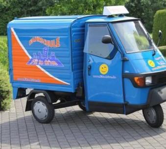 Unser Promotionfahrzeug   Piaggio Ape 50