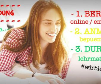Nutze die Zeit - melde dich jetzt online an...