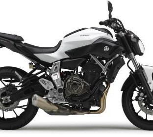 Yamaha MT07 weiß 48PS (tiefer)