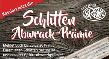 Schlitten-Abwrack-Prämie