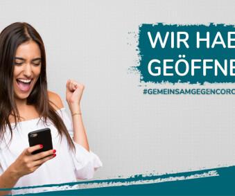 GOOD NEWS: WIR HABEN WIEDER GEÖFFNET!
