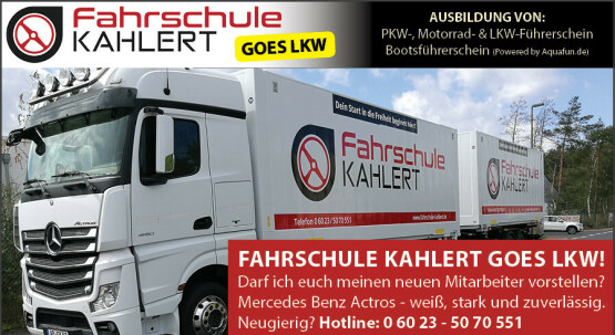 Fahrschule Kahlert goes LKW
