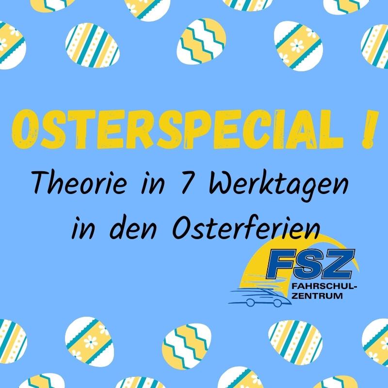OSTERSPECIAL! ONLINE Theorie in 7 Werktagen