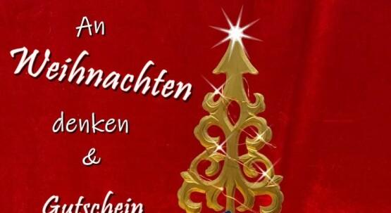 An Weihnachten denken & Gutschein verschenken!