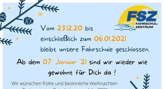 Vorabinfo:  ❄️ Vom 23.12.20 - 06.01.2021 haben wir Winterpause! ❄️
