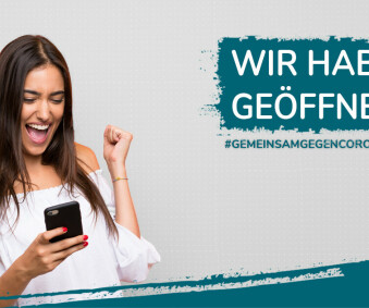GOOD NEWS: WIR HABEN AB 11.MAI WIEDER GEÖFFNET!!